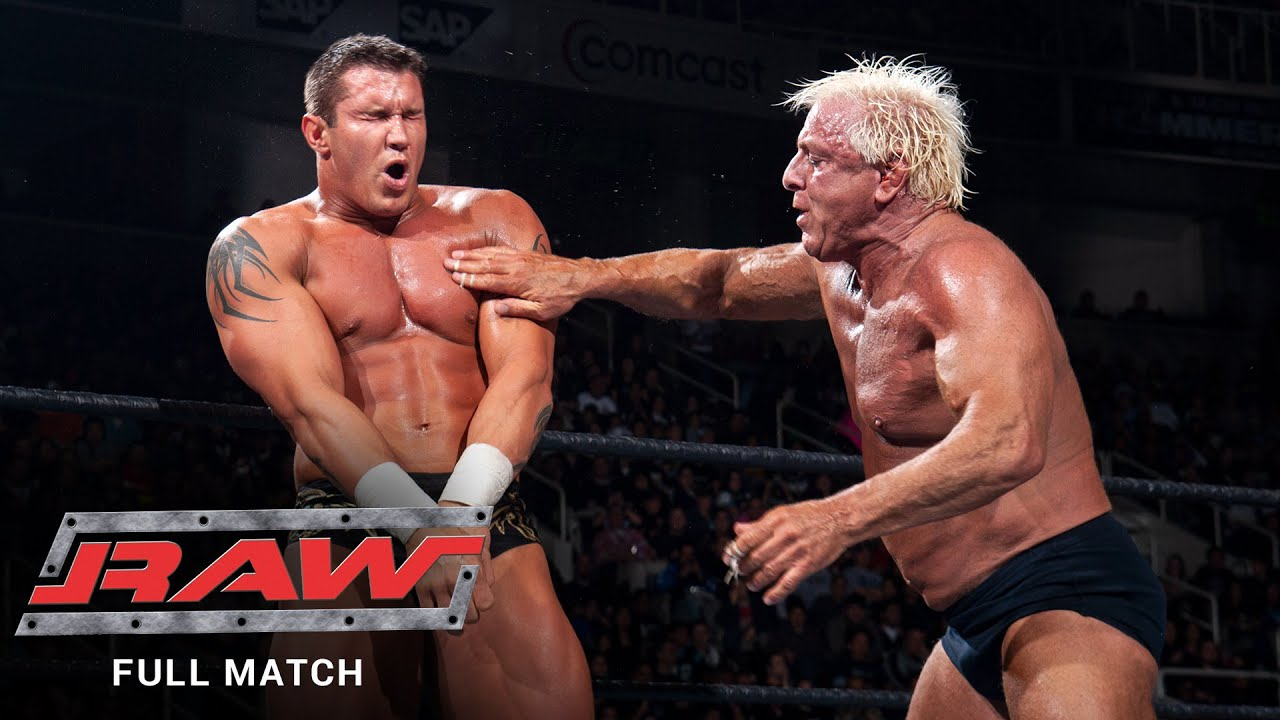 Download FULL MATCH - Randy Orton & Shawn Michaels vs. Ric Flair & Triple H: Raw, Jan. 31, 2005