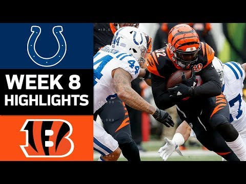 Colts vs. Bengals | NFL Week 8 Game Highlights
