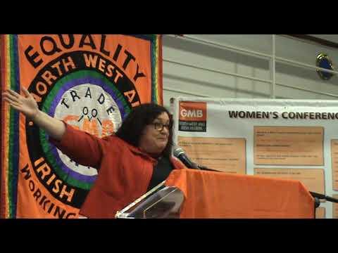 Lynn Collins, Regional Secretary TUC North West at 2017 GMB Regional Women's Conference