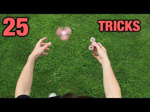 25 FIDGET SPINNER TRICKS
