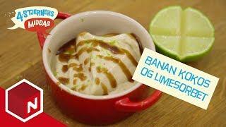 vuclip Banan kokos og limesorbet | Ole Martins Kokketips | 4-stjerners middag  | TVNorge