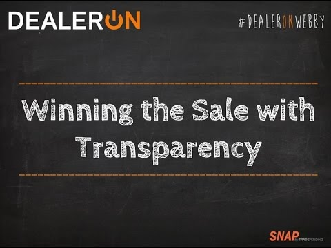 Winning the Sale with Transparency