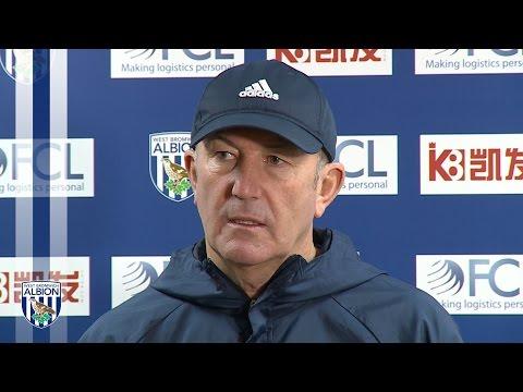 Tony Pulis discusses Albion's Premier League fixture at Middlesbrough