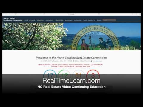 Check your NC real estate broker continuing education credits online