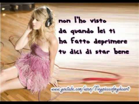 Traduzione di You Belong with me-Taylor Swift