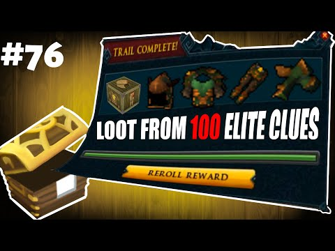 Satisfying 250s On Log! Loot From 100 Elite Clue Scrolls (best In 300) - I CLUE FOR YOU #76 [RS3]