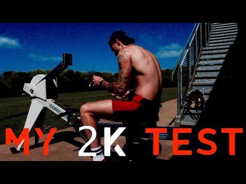 MY 2K ERG TEST!   Student Rower