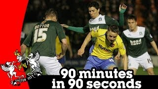 Plymouth Argyle 1-2 Exeter City - 90 minutes in 90 seconds (25/3/14)
