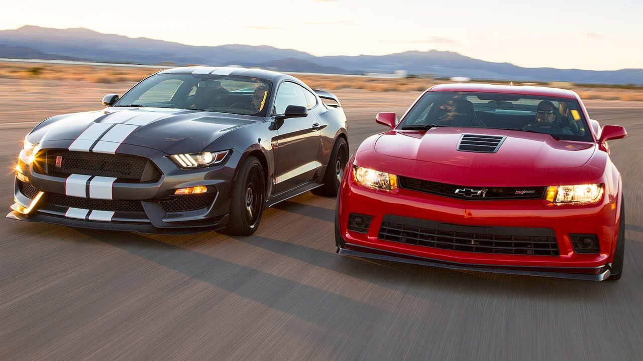 2016 ford mustang shelby gt350r vs 2015 chevrolet camaro z 28 head 2 head ep 71 youtube
