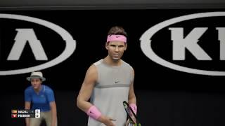 AO Tennis - Rafael Nadal vs Roger Federer (Update 1.09) - PS4 Gameplay