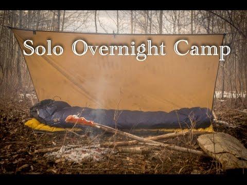 Solo Overnight Camp Bucksaw, Bowdrill, Bushcraft, New