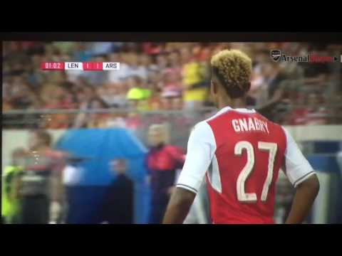 Alex Oxlade Chamberlain chip goal vs RC Lens
