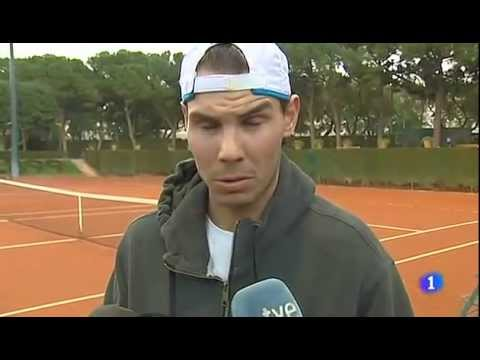 Rafael Nadal's practice and interview from Barcelona