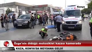 Genç kızın öldüğü motosiklet kazası kamerada