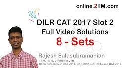 DILR CAT 2017 Slot 2 - Full Video Solutions   LRDI 2017   DILR 2017