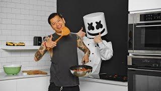 How To Make Korean Bibimbap ft. Yultron | Cooking with Marshmello