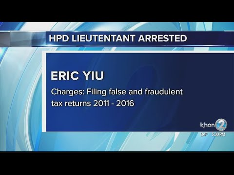 Honolulu Police Lieutenant Charged With Tax Violations