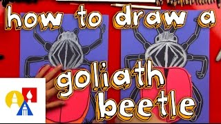 How To Draw A Goliath Beetle - Construction Paper Cutout