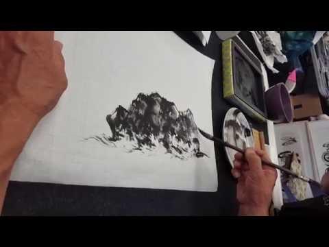 권용섭의 수묵속사 파도 Korean Brush Painting