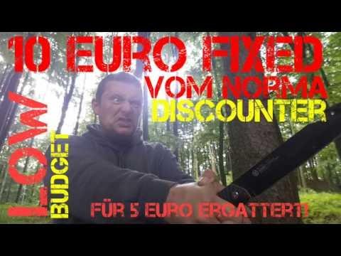 ✔NORMA CAMP KNIFE f. 10 € von Kraft Werkzeuge (Discount Bushcraft) für 5€ ergattert! Messer Review