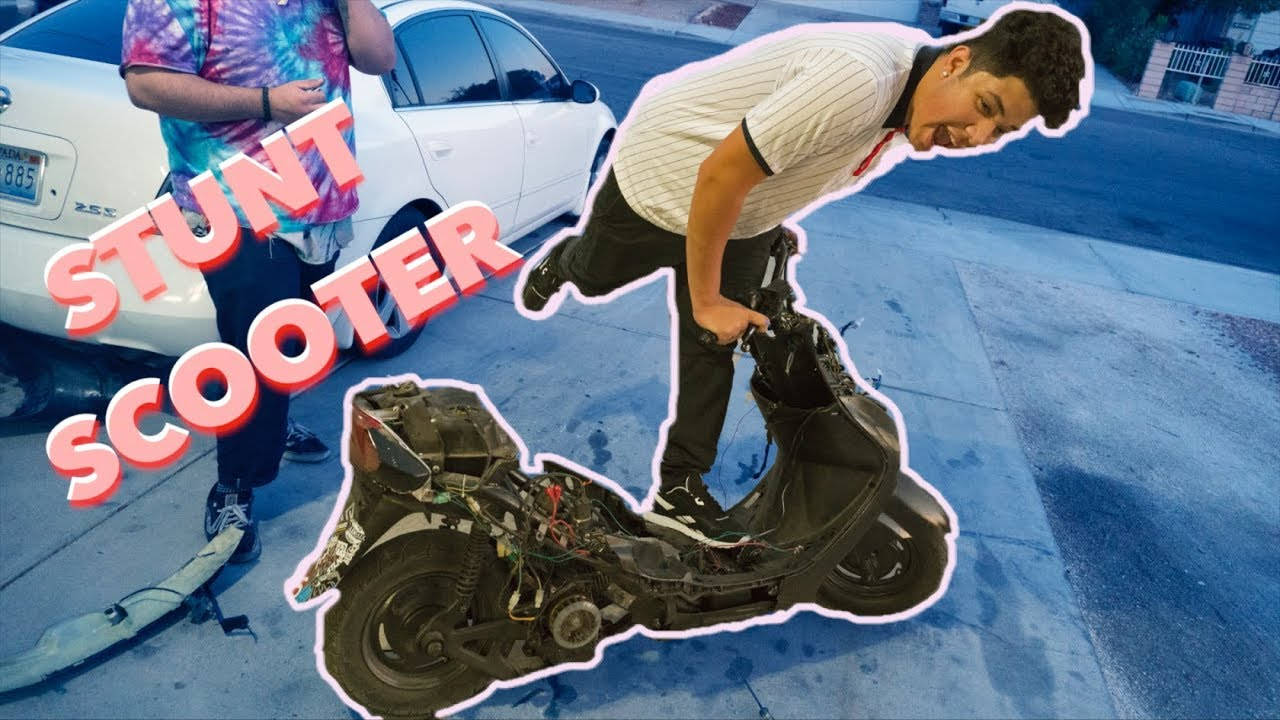 making a 50cc scooter into a stunt scooter faster wheelies youtube. Black Bedroom Furniture Sets. Home Design Ideas