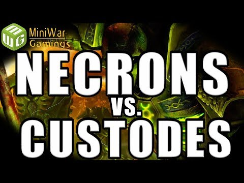 Custodes Vs Necrons Warhammer 40k Battle Report - Necron Retrospective Review
