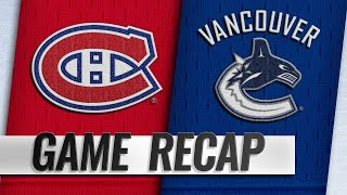 Drouin's late PPG propels Habs past Canucks
