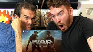 WAR | Official Teaser REACTION!  | Hrithik Roshan | Tiger Shroff | Vaani Kapoor