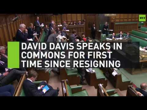 David Davis speaks in Commons for first time since resignation