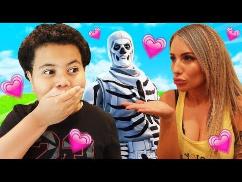 DREAM CRUSH SURPRISES MY LITTLE BROTHER WITH THE *NEW* SKULL TROOPER IN FORTNITE! *EMOTIONAL*