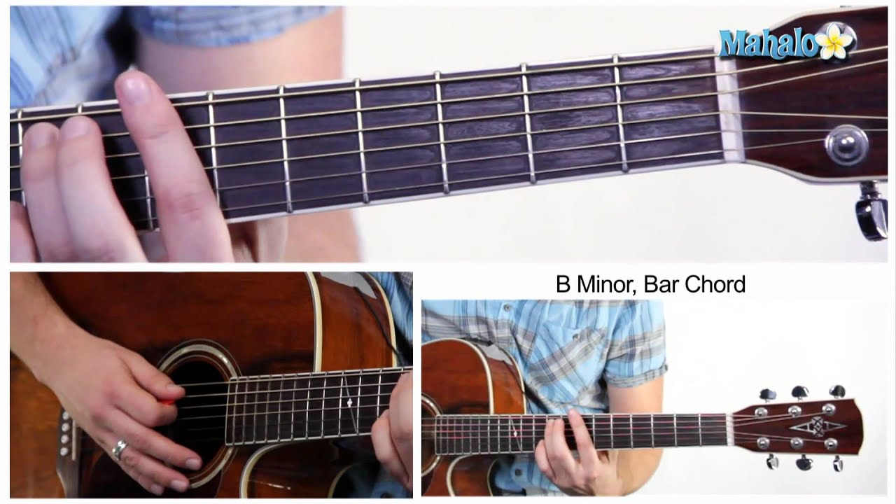 How To Play A B Minor Bm Bar Chord On Guitar 7th Fret Youtube