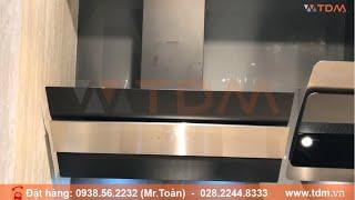 TDM.VN | Review máy hút mùi Malloca MC 9003 ống khói áp tường dạng nghiêng màu đen