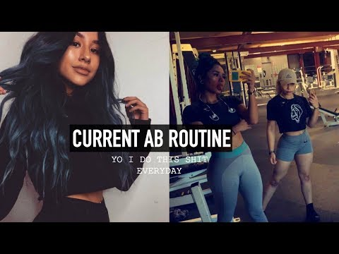MY AB ROUTINE (literally) + GROCERY SHOPPING ft. la bivi