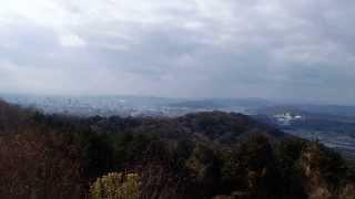 龍ノ口山の山頂から岡山市街地を眺める 岡山県岡山市