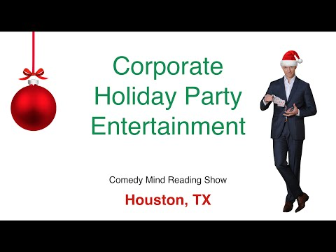 Corporate Holiday Party Entertainment in Houston