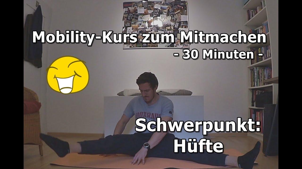 RESET Mobility Kurs zum Mitmachen | Schwerpunkt Hüfte (IR/Flex./Ext.)