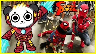 I MET IRON SPIDER MAN IRL and got surprise toys for Ryan ToysReview at Comic Con !