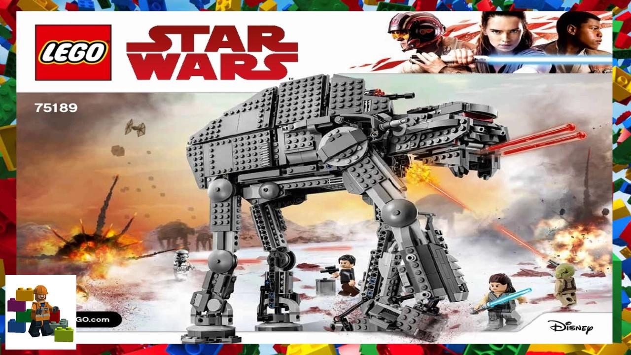 Lego Instructions Star Wars 75189 First Order Heavy Assault