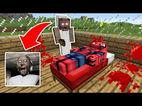 KÖTÜ BÜYÜK ANNE ÖRÜMCEK ADAM'A SALDIRDI (KORKUNÇ) - Minecraft
