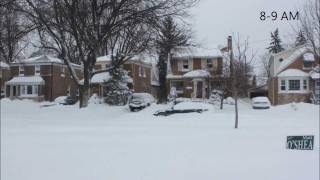 Timelapse of West Beverly Chicago Blizzard of 2011