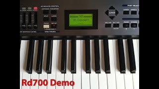roland rd 700 digital stage piano performed by s4k space4keys keyboard solo