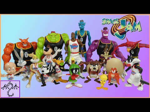 1996 Space Jam Action Figures: Tune Squad & Monstars Review