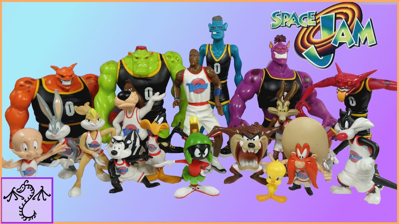 1996 Space Jam Action Figures Tune Squad Monstars Review Youtube