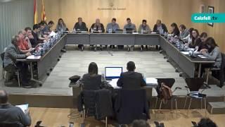 Ajuntament de Calafell: sessió plenària ordinària, 12 de desembre de 2016
