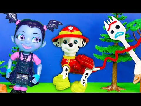 Toy Story 4 Forky and Vampirina Seek and Find PJ Masks and Paw Patrol in Lion King Jungle thumbnail