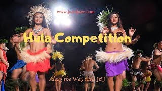 🌴Dance Competition - Old Lahaina Luau- Hula Dance - Grass Skirts - Hula Girls - Maui Hawaii🌺