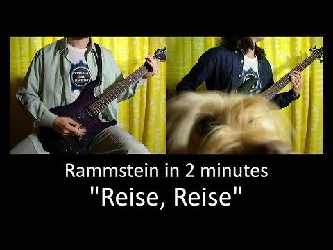 13) Rammstein - Reise Reise (Guitar & Bass lesson + TAB   Cover HD)