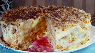 """Торт """" Наполеон """"без выпечки /Cake """"Napoleon"""" without baking"""
