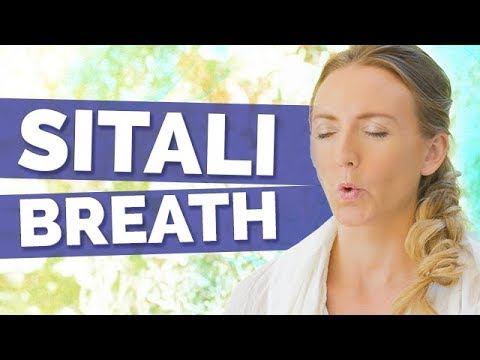 How to do Sitali Pranayama Tutorial Yoga Breathing Technique and Benefits | Cooling Breath