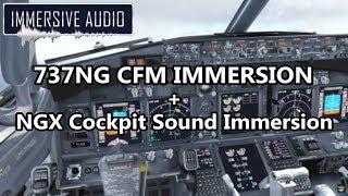 Immersive Audio 737NG CFM Soundpack + Cockpit Sound Immersion [PMDG 737NGX]
